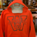 Orange Sweatshirt with cap