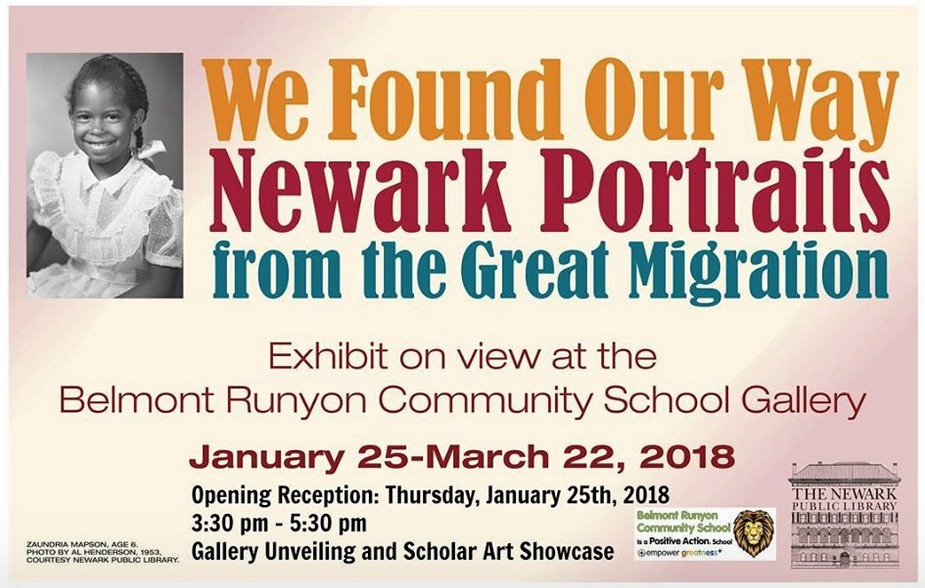 Newark Portraits Exhibit Invitation