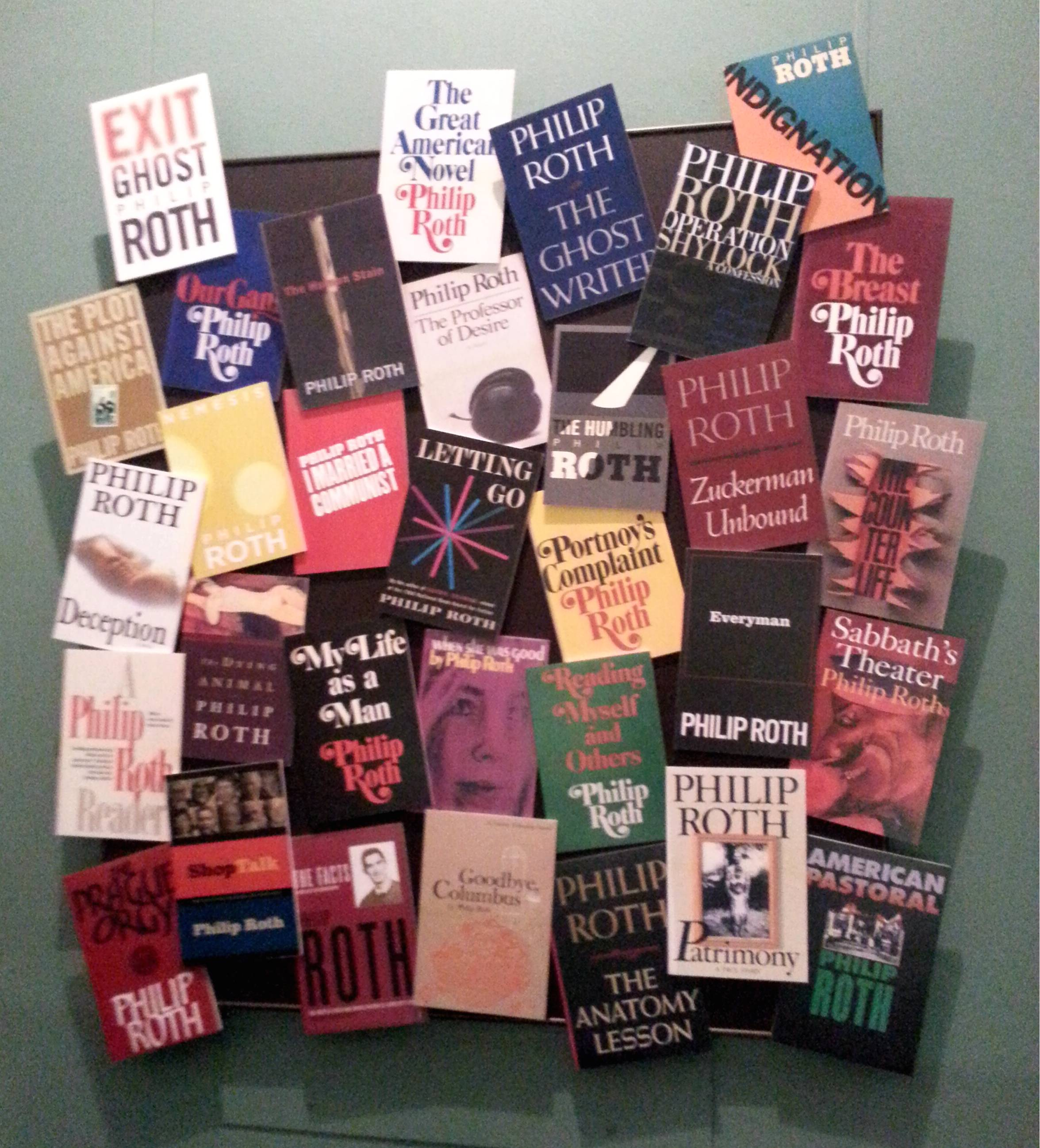 Philip Roth Book Cover Display