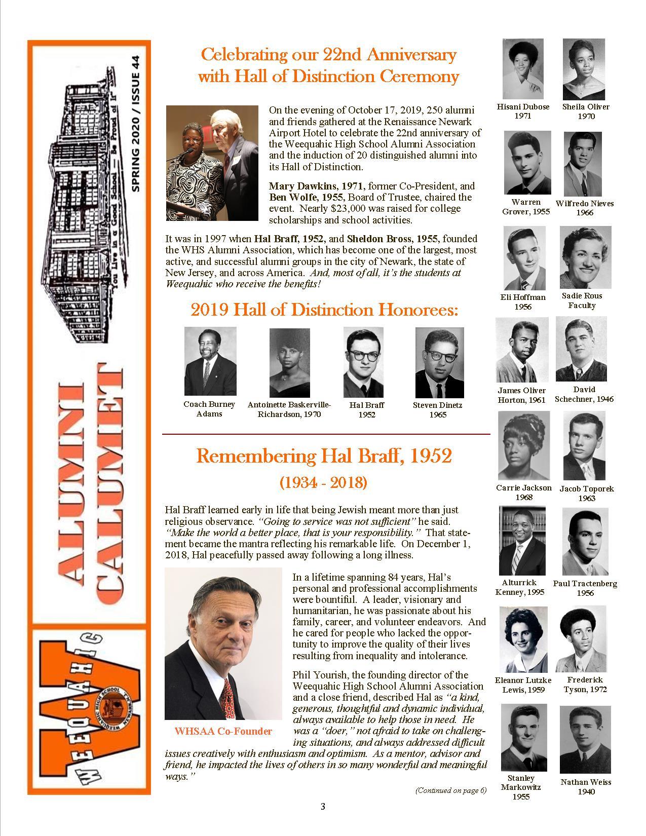 44-Spring 2020 Alumni Calumet Front Cover