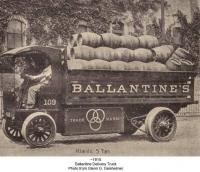 Ballantine Beer Truck with Barrels
