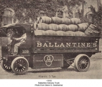 Ballantine Beer Truck with Barrels
