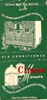 Clinton Manor Matchbook Cover