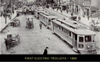 Electric Trolleys - 1888