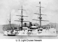 U.S. Light Cruiser in Newark